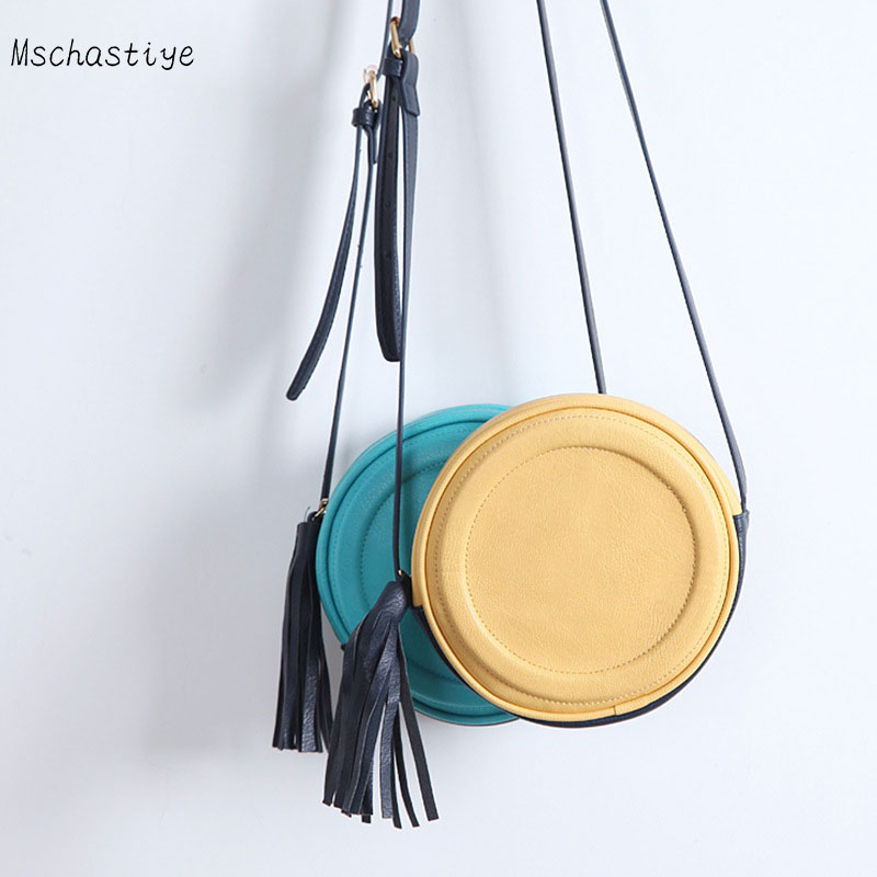 Women Handbag Summer Beach Tote Circle Bag Round handbag Vintage Fashion Ladies Messenger Bag Tassel Girls Round Crossbody Bag все цены