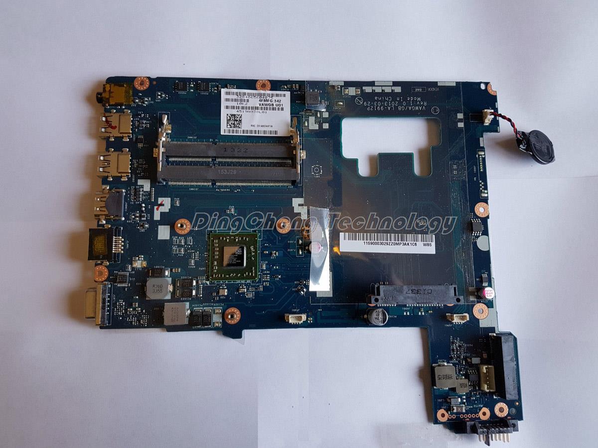 HOLYTIME laptop Motherboard For Lenovo G505 VAWGA GB LA 9912P A6 5200 CPU Rev 1 0
