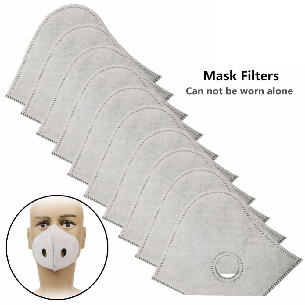 1PCS PM2.5 Activated Carbon Filter For Mouth Masks 6 Layer Protective Filter Mask Filter Replacement (No Mouth Mask Included)