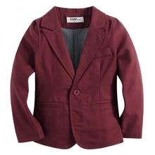 knitted cotton 100%  toddler BOY blazer BB161104A wine red