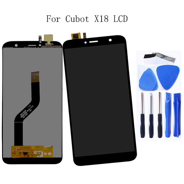 CUBOT x18 좋은 원래 LCD 디지타이저 및 LCD 디스플레이 부품 100% 5.7 인치 + 도구
