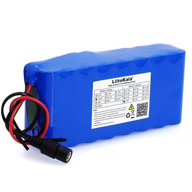 LiitoKala 14.8 V 10Ah 18650 li-iom batterie pack nuit pêche lampe chauffage mineur lampe amplificateur batterie avec BMS + 16.8 V chargeur - 3