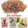 20000 unids colorida paintball bala bala pistola nerf bala absorbente de agua perlas de agua del suelo de cristal orbeez arma pistola de juguete accesorios