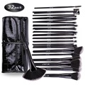 DE'LANCI Kit de Pincéis de Maquiagem Profissional 32 pcs Cosméticos Sobrancelha Blush Foundation Pó Make up Brush Set Com a Caixa Preta
