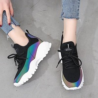 FIDANEI Casual Sport Shoes 2018 Autumn New Ins Dad Shoes Fashion Harajuku Hot Colorful Women Sneakers Zapatos de mujer