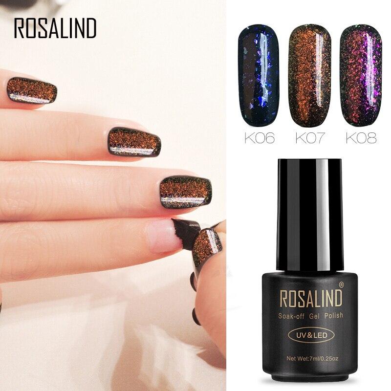 Gelaxy Gel Nail Polish: ROSALIND Gel 1S Nail Polish Black Bottle 7ML Shiny Galaxy