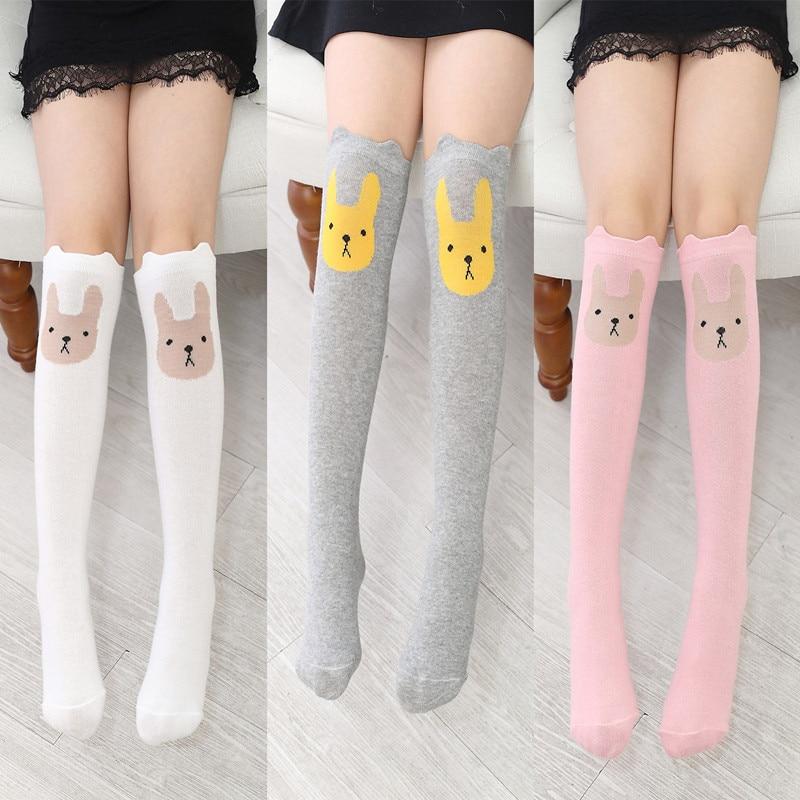 Children Warmers Ankle Short Lovely Socks Cartoon Cute Kids Girl Knee High Socks Cute Cotton font