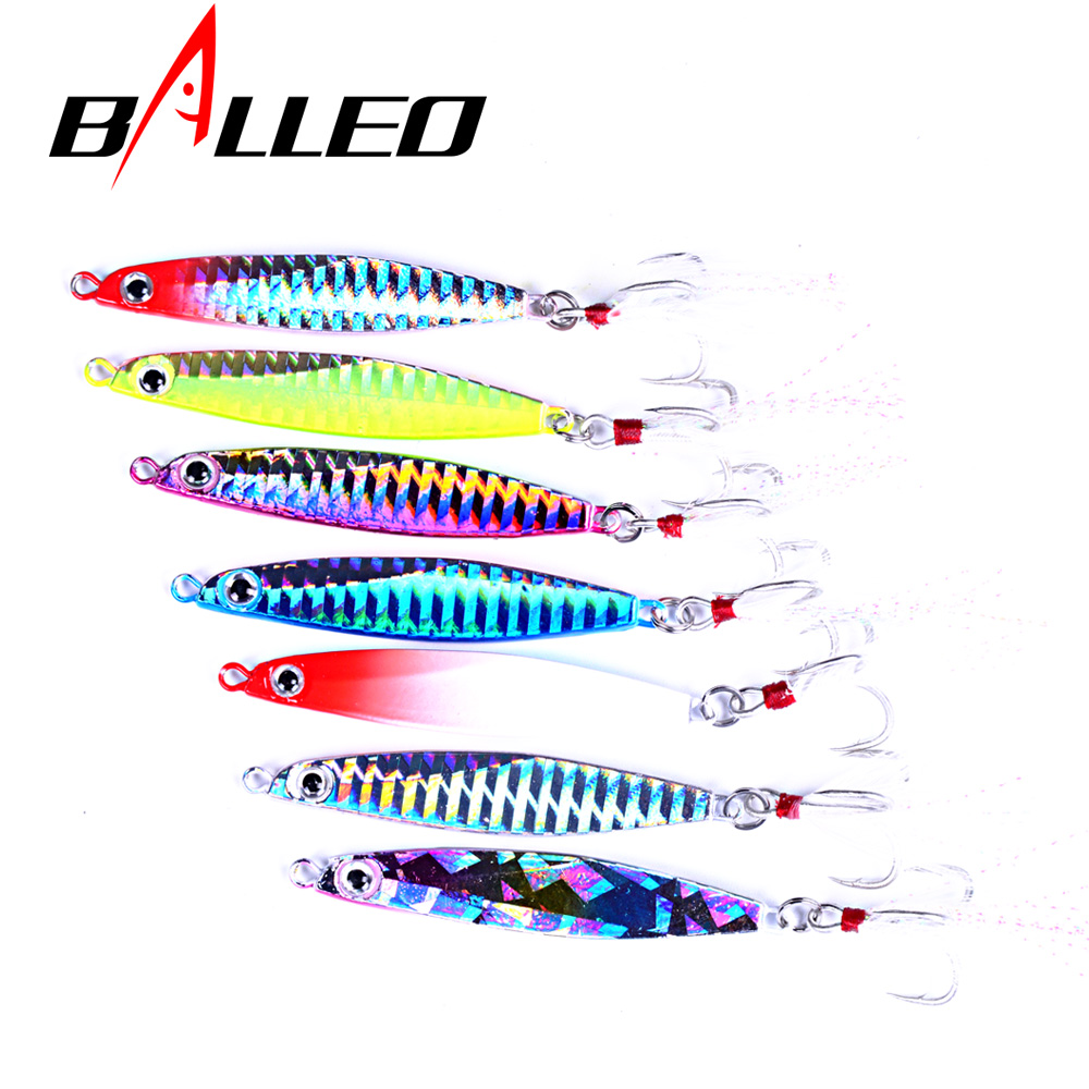 Balleo Laser Metal Jig 14g 17g 21g jigging lure Lead Fish Fishing Lure metal lures fishing jig supplies for pike fishing slow jig lead fish lure 40g metal jigs 7cm slow jigging lures 8 color 1pcs lot salt water fishing lures