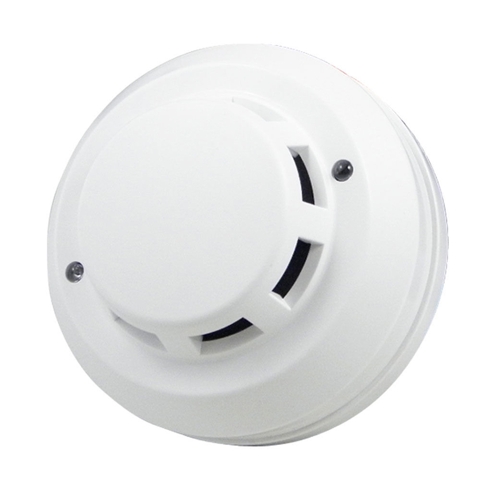 Wholesale Security Photoelectric Smoke Fire Detector Sensor 4 Wire Connection Points wireless smoke fire detector for wireless for touch keypad panel wifi gsm home security burglar voice alarm system