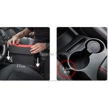 1 шт. стайлинга автомобилей сидений щелевая хранения Box держатель Организатор для fiat grande punto Seat ibiza bmw e87 nissan juke bmw Серия 1