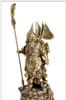 Copper Brass Exquisite Large Chinese Fengshui BRASS Statue Nine Dragons Guan Gong Home Decoration
