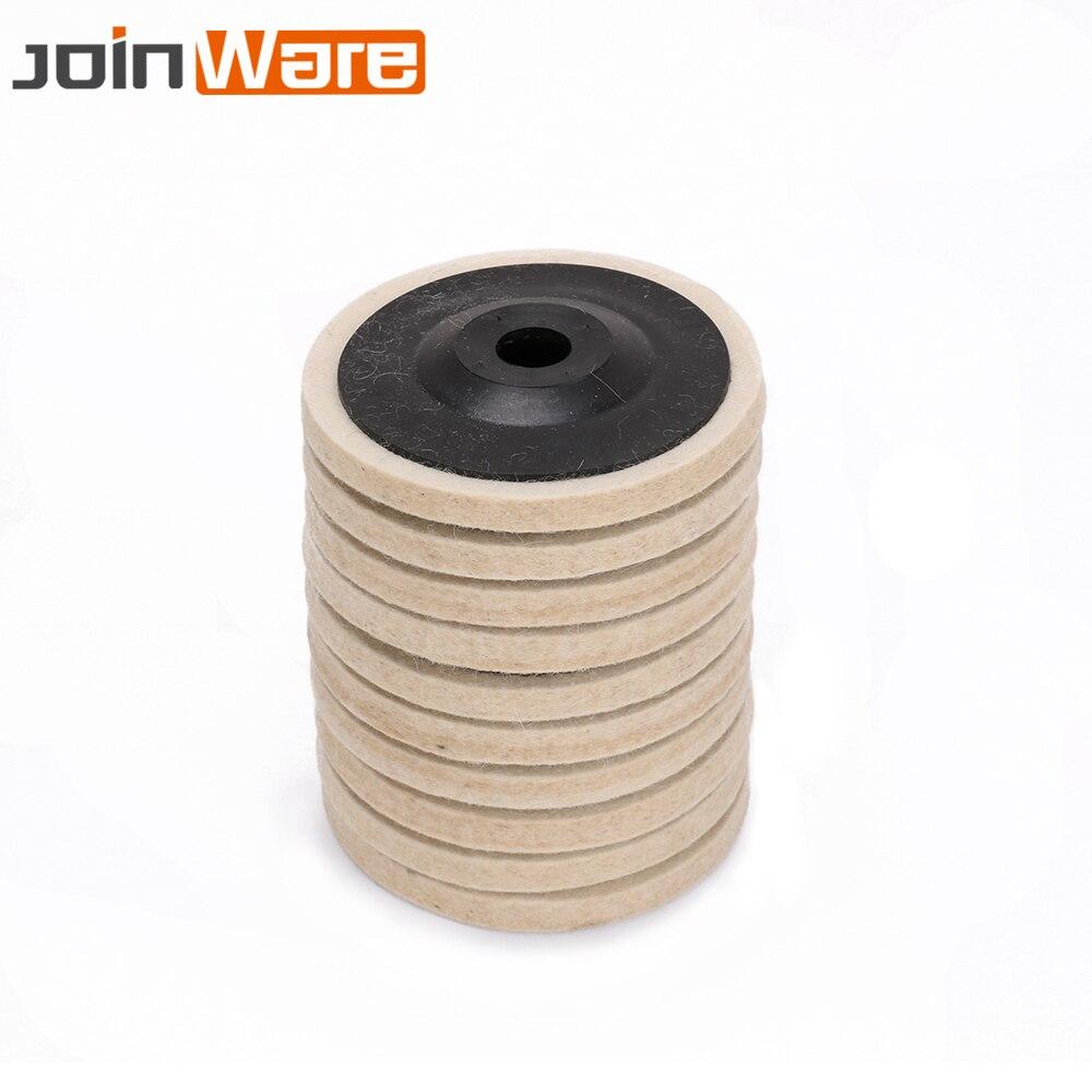 10Pcs 4 Inch Wool Polishing Pads Buffing Angle Grinder Wheel Felt Polishing Disc Pad Set 100mm For Angle Grinder Rotary Tool New