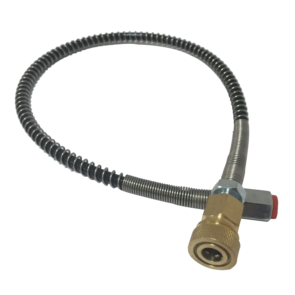 Image 3 - AC89 Refill Airgun 4500PSI HPA Tank Paintball Cylinder 530mm PCP Pump Filling Station Hose With Female Quick Connector Acecare-in Paintball Accessories from Sports & Entertainment
