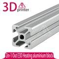 Um Conjunto TS Impressora 3D Reprap Wilson frame extrusões De Alumínio 2020 T-slot Tubo De Alumínio 4*400mm + 2*330mm DIY T-SLOTTED EXTRUSÃO