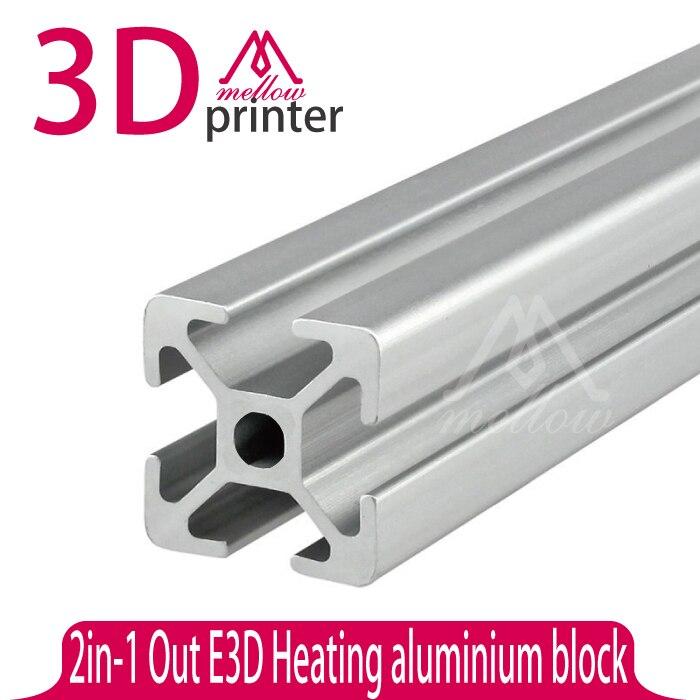 Prix pour Un Ensemble Reprap Wilson TS 3D Imprimante cadre En Aluminium 2020 extrusions t-slot Tube En Aluminium 4*400mm + 2*330mm DIY T-SLOTTED D'EXTRUSION