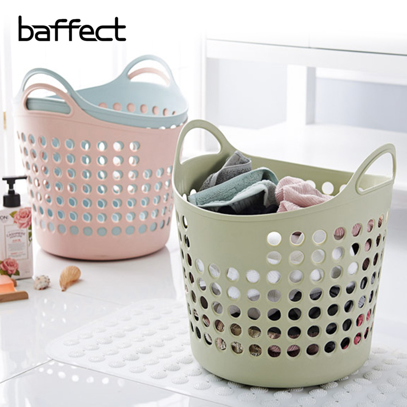 Soft Foldable Plastic Laundry Basket Dirty Clothes Basket Dirty Clothes Toy Storage Basket Laundry Basket Cutout Type Clothing