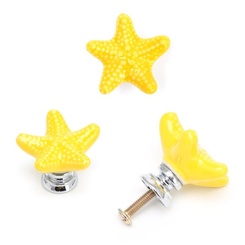 1 шт Морская звезда Ручка для шкафа Керамическая Дверь Шкаф Ящик кухонный выдвижной домашний декор