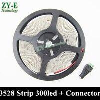 Tira LED impermeable 5M 300 LED 3528 SMD 12V Luz led flexible  60 LED/M  Blanco/blanco cálido/azul/RGB/Verde/rojo/amarillo envío gratuito