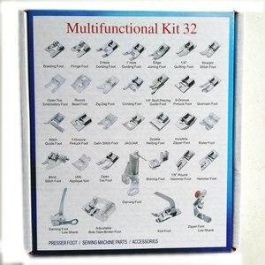 Image 1 - 32 Pcs Binnenlandse Naaimachine Vlechten Blind Stitch Stopvoet Presser Voet Voeten Kit Set Met Box Snap On Voor Brother zanger Set