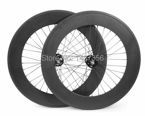700c colour yellow/white/green carbon clincher 88mm bicycle track wheels fixed gear wheel