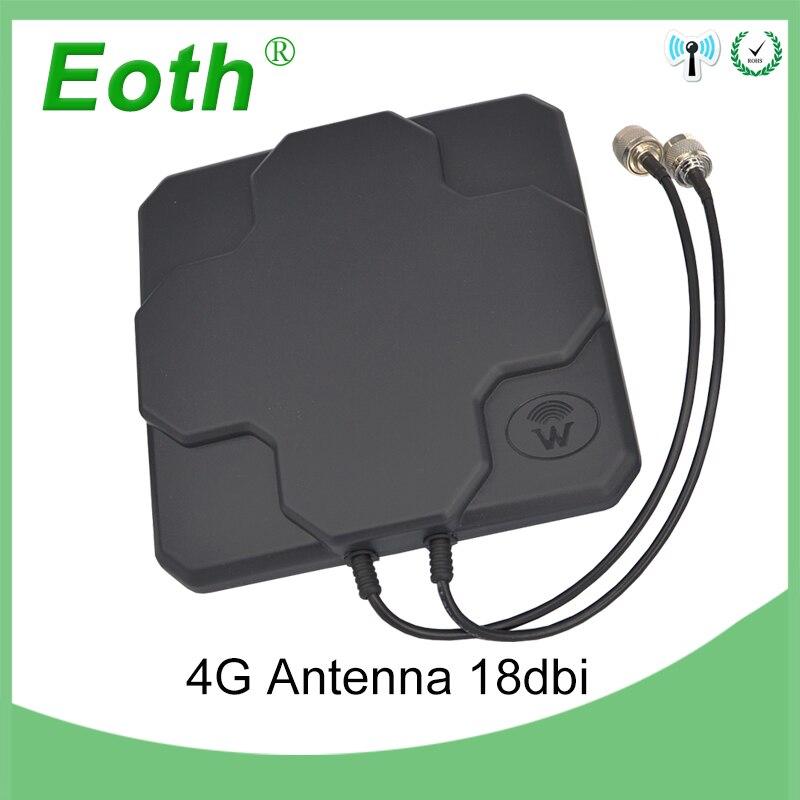 2 pièces 4G LTE Antenne 18dbi N Mâle Extérieur mimo 4g Antenne 698-2690 MHz 4G Antenne Directionnelle Externe Antenne Pour Routeur Sans Fil