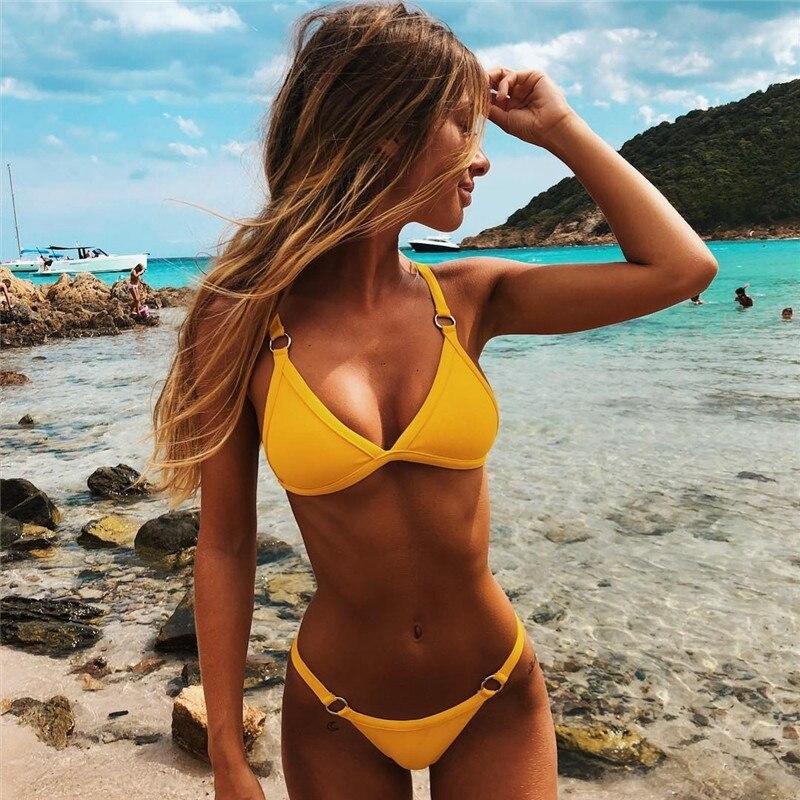 Bikini 2019 Bademode Frauen Sexy Micro mini bikini push up Badeanzug Brasilianische Biquini Strand Tragen Badeanzüge tanga Bikini Set