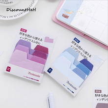 Colorful Index Sticky Notes Notebook Planner Accessories Tool Index Sticky Sticker Message Notes Scratch Pad Size 9.8*8cm