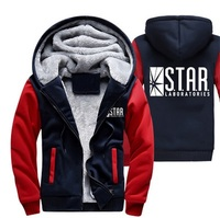 2018 Spring Winter Fleece Sweatshirts The Flash Jacket Casual Diecoat Fashion Brand Clothing S T A