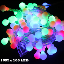 10M LED String Lights With 100led Ball AC220V Holiday Decora Lamps Christmas Light Holiday Wedding Party Decoration 2015 New
