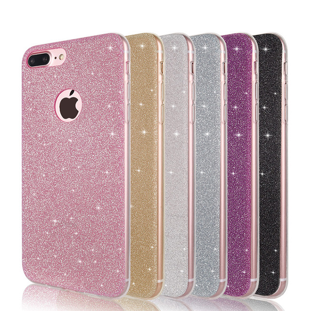 c600c4f7ec9 Shine Silicone Soft Case For iPhone 6 6 s 7 8 Plus Luxury Glitter Frosted  Cell Phone