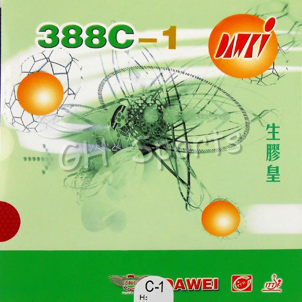Dawei 388C-1 King Of Medium Pips Out Table Tennis Rubber Without Sponge Topsheet OX