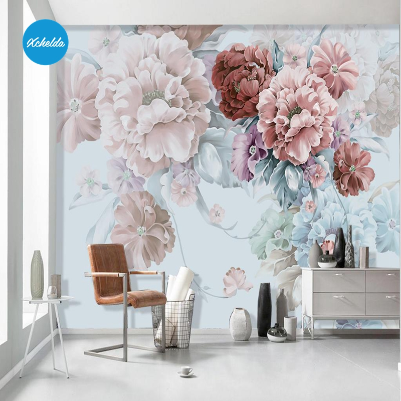 XCHELDA Custom 3D Wallpaper Design Red Rose Bouquet Photo Kitchen Bedroom Living Room Wall Murals Papel De Parede Para Qua 63 rose de mai