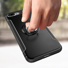 VOERO Luxury Shockproof Case For iPhone 8 7 Plus 7 Metal Ring Holder Combo Phone Cover For iPhone 7 8 Plus Case Capa Coque