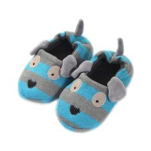 2019 Winter 1 to 6 years old kids slippers boy and girl household cotton shoes good quality keep warm cartoon children shoes(China)