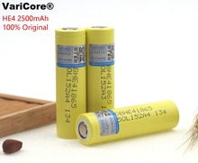 2PCS/LOT New Genuine LG HE4 Chem 18650 ICR18650HE4 30A 35A discharge li-ion battery cell 2500mah Free Shipping