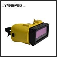 YYNOPRO NUEVA lente de soldadura máscara de soldadura para la máquina de soldadura eléctrica amarilla añadir a gafas de oscurecimiento automático