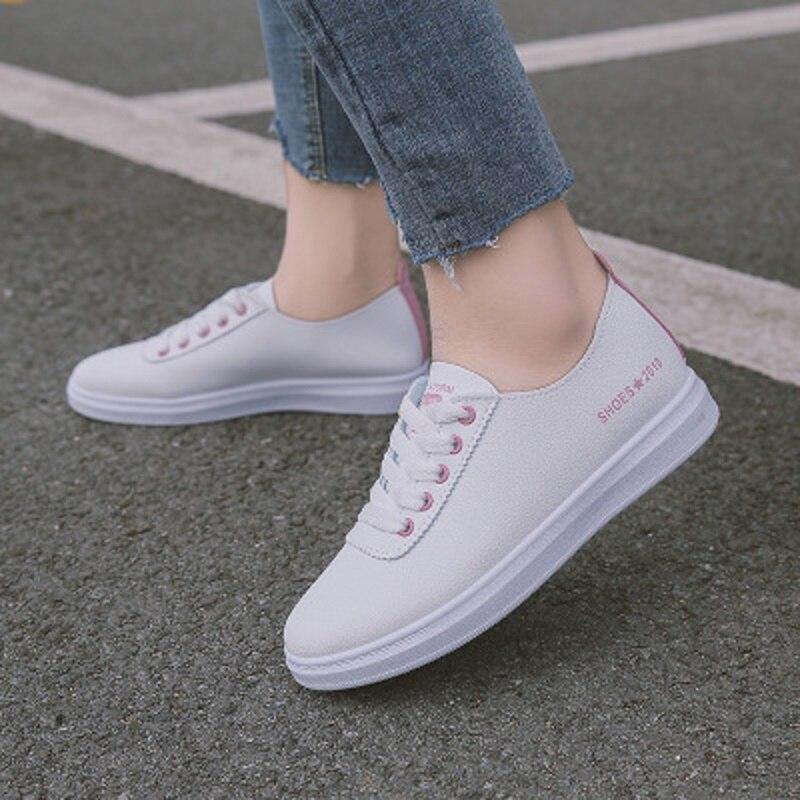 Simple Petit Cuir Femmes Nouveau Et Blanc Automne 1 En Printemps Frais 2018 Chaussures Doux 2 Sauvage HRqUOf