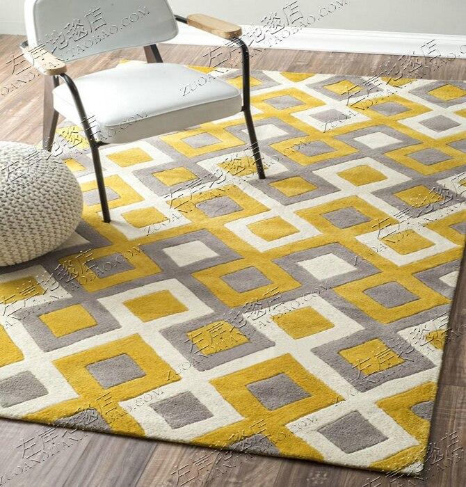 Acrylique diamant treillis tapis alfombras moderne fait main tapis salon chambre mode créative table basse canapé tapete
