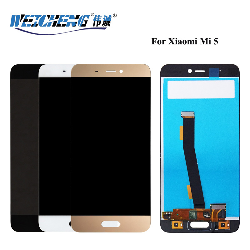 For Xiaomi Mi 5 LCD Display Touch Screen Digitizer Assembly Replacement For Xiaomi Mi5 LCD Display Black/White/Gold