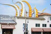 Новая концепция открытый декоративные гигантский серебристый цвет надувные щупальце осьминога 4mH Бесплатная доставка