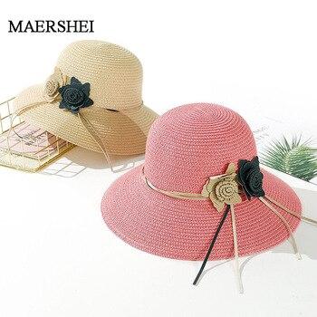 8acbb55155a1 Новые однотонные Мягкие Соломенные шляпы для женщин цветок интимные  аксессуары женская летняя сумка для пляжа Защита от сол.