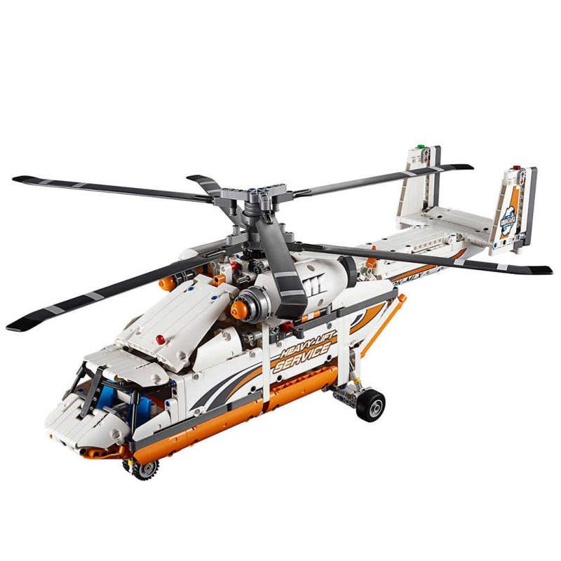 Lepin 20002 Compatible Legoed Technic model Double Rotor Transport Helicopter 42052 Building Bricks Blocks Set DIY Gifts Toys compatible with lego technic creative lepin 24011 1344pcs 3 in 1 highway transport building blocks 6753 bricks toys for children
