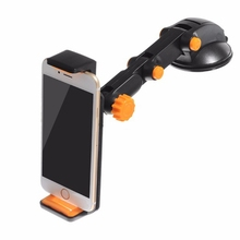 Universal 2 in 1 360 degree Scalable Car Dashboard Sucker Mount Mobile Phone Holder For Smartphone Tablet GPS Adjustable Stand