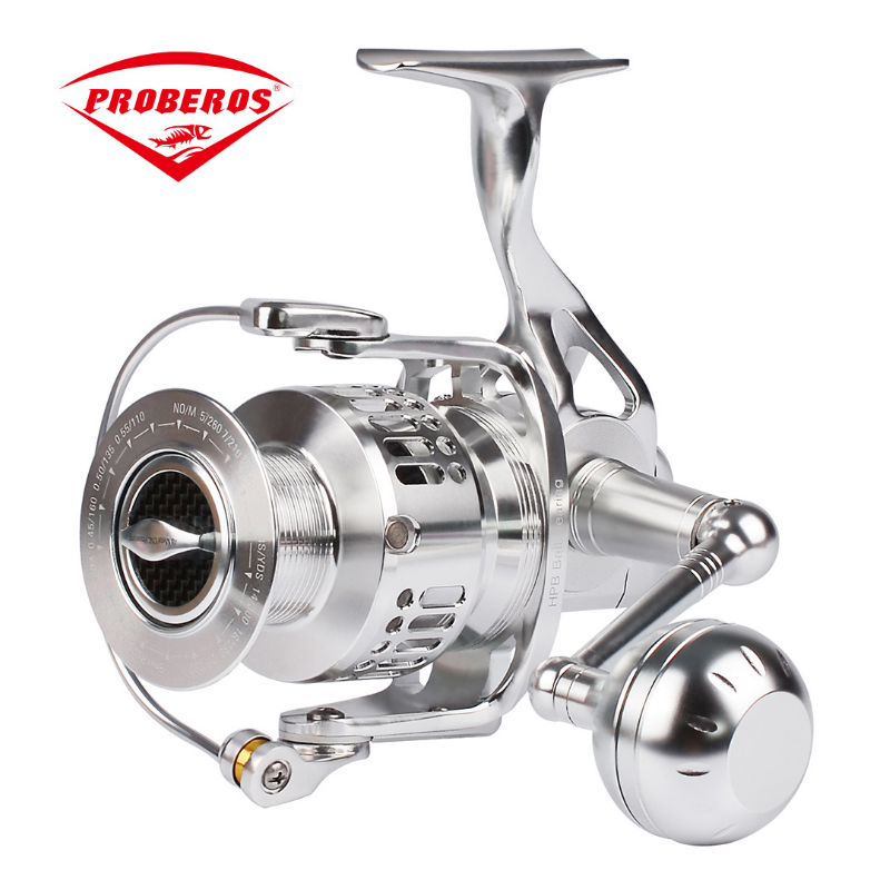 PRO BEROS New Water Resistant Drag Aluminum alloy Spinning Reel with Large Spool 28KG Max Drag Freshwater Spinning Fishing Reel вытяжка jet air viki bl a 60