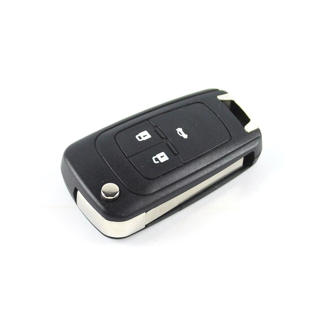 3 Knop Flip Folding Blade Shell Case Remote Key Case Shell Vervanging Auto Sleutelhanger Voor Chevrolet Camaro Cruze Equinox Malibu Bevordering Van Gezondheid En Genezen Van Ziekten