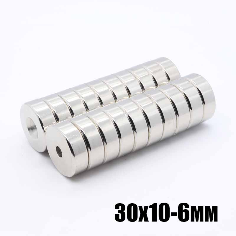 2pcs <font><b>30x10</b></font>-6 mm Round Countersunk Ring <font><b>Magnet</b></font> 30mm x 10mm Hole 6mm Rare Earth <font><b>Neodymium</b></font> <font><b>Magnet</b></font> 30*10-6 mm image