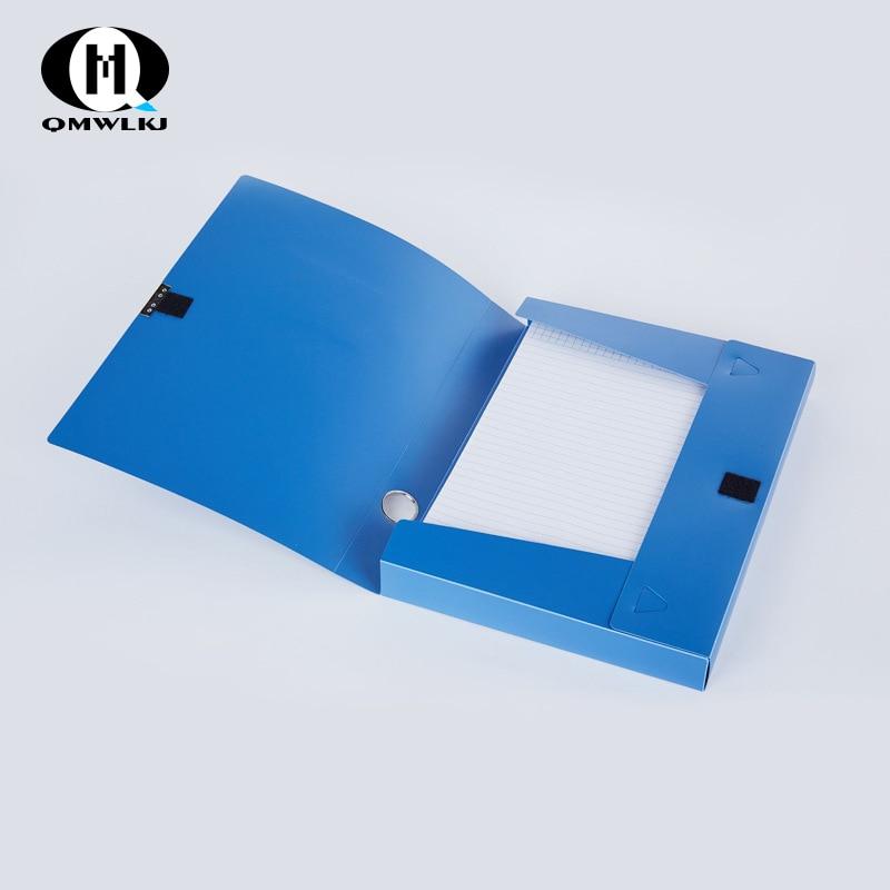 A4 Portable Document File Box 3.5cm/5.5cm Storage Bag Files Folder Lightweight Business Organizer File Box