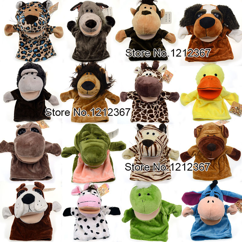 Cute Cartoon Forest Animal Doll,Baby Plush Toy,Hand Puppets,Storytelling Props,Mouth Can Move 18 Style To Choose Funny Toys