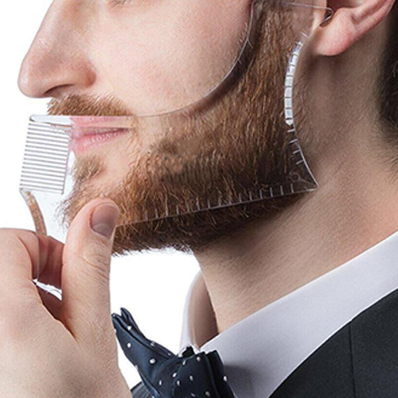 Template Beard Beard Styling Tools Transparent Men 39 s Beards Combs Beauty Tool for Hair Beard Trim Templates in Combs from Beauty amp Health