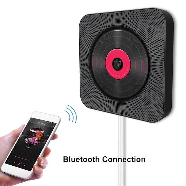 Kustron montado en la pared de reproductor de Cd portátil Audio en casa orador la educación Prenatal temprano educación Altavoz Bluetooth Usb jugar